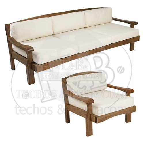 Techos barbacoas for Sillon madera jardin