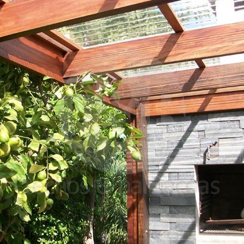 Techos barbacoas for Techos de policarbonato para jardin